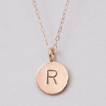 best gold circle necklace with initial products on wanelo With gold circle letter necklace