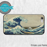 Great Wave Japanese Art iPhone 6 Rubber Case, Great Wave Japanese Art iPhone 5 Rubber Case, Great Wave Japanese Art iPhone 5C Rubber Case