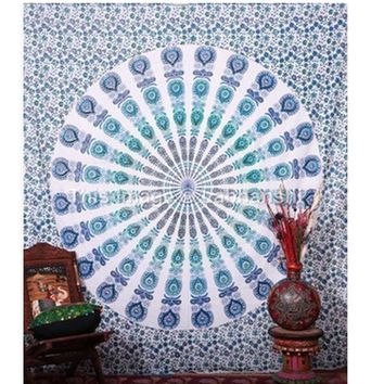 Tapestry Indian Mandala Tapestry Hippie Chiffon Wall Hanging Tapestries Boho Bedspread Beach Towel Yoga Mat Picnic Table Cloth