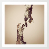Cute Kitten     *** UPSIDE DOWN *** Art Print by M✿nika  Strigel in different sizes for your lovely bedroom! Pillows and iphone case too!
