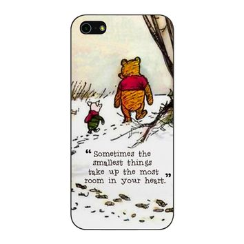 Winnie The Pooh Quote iPhone 5/5S/SE Case