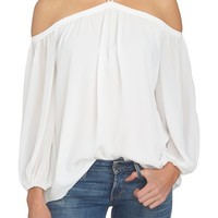 1.STATE Off the Shoulder Chiffon Blouse | Nordstrom
