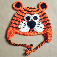 Baby Boys/Girls Chunky Animal Hat Winter Hat with Ear Flaps Baby Beanie Baby Shower Gift Crochet Baby Hat Gift Ideas Newborn to 4T