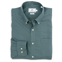 Ridgeland Plaid Sport Shirt in Dark Green by Southern Tide