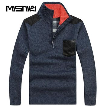 High Quality Autumn Winter Men Knitted Sweaters Cardigan Casual Warm Wool Pullover Men