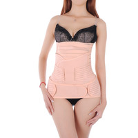 Women's 3 in 1 Breathable Elastic Girdle Belt Postnatal Recoery Cloth Support for Women and Maternity