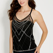 bead and sequin embellished tank