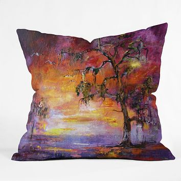 Ginette Fine Art Okefenoee Sunset Throw Pillow
