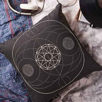 Magical Thinking Geo Embroidered Pillow