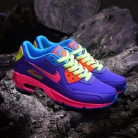 Nike Air Max Wmns 90 Gs Candy Purple Pink Blue Orange Running Shoes Sport Shoes