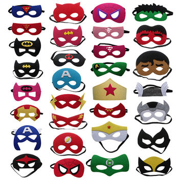 Kids Avengers Super Hero Transformers Spiderman Batman Eye Party Masks Masquerade Mask Cosplay Costume Halloween