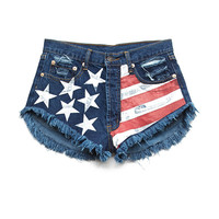 Stars & Stripes Denim Cutoffs
