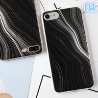 Back Cover For Apple Iphone 7 Case Silicon Printing Line Twist Rotation Design Painted Phone Case For Iphone 7 TPU Capa-0405