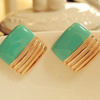 Bestgoods — Nice Green Square Earrings