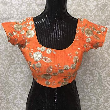 Silk Embroidered Blouse