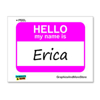 Erica Hello My Name Is Sticker