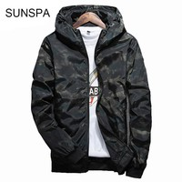SUNSPA 2017 Spring Autumn Mens Casual Camouflage Hoodie Jacket Men Waterproof Clothes Men's Windbreaker Coat Male Outwear 4XL
