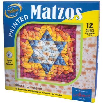 Printed Matzos - Kosher for Passover - 2 pack of 12