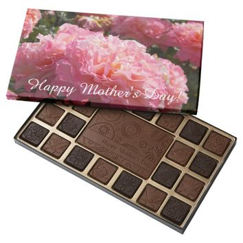 Frilly Pink Roses Photo Mother's Day 45 Piece Box Of Chocolates