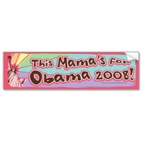 Lady Liberty Obama Mama Bumper Sticker  from Zazzle.com