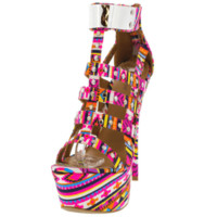 Dollhouse Aztec Guardian High Heel Pumps