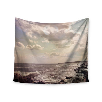 "Debbra Obertanec ""Rocky Coast"" Sea View Wall Tapestry"