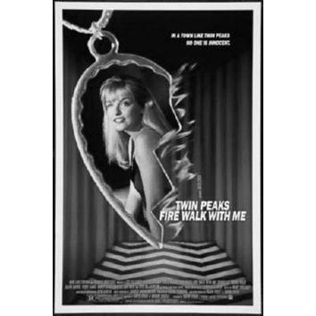 Twin Peaks Poster Standup 4inx6in black and white
