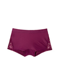Super Soft Lace Trim Boyshort - PINK - Victoria's Secret