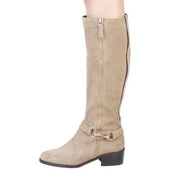 Pierre Cardin Taupe Rider Boot