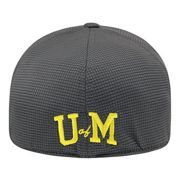 """Michigan Wolverines NCAA TOW """"Booster Plus"""" Memory Fit Flex Hat - Charcoal"""