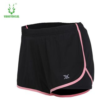 Compression Sports Shorts for Women Yoga Shorts Polyester Workout Mid Waist 2 in 1 Elastic Shorts Black Plus Size XXXL Regular