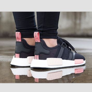 Beauty Ticks Adidas Nmd Trending Fashion Casual Sports Shoes Blackpink White Soles