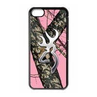 Browning Cutter Logo Pink Camo iPhone 5C On Your Style Christmas Gift Cover Case