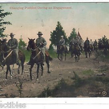 Early Post Card-Changing Positions During an Engagement-Calvary 1911