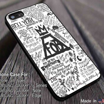 Lyrics Collage Fall Out Boy iPhone 8+ 7 6s Cases Samsung Galaxy S8 S7 edge NOTE 8 5 4