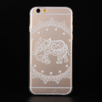 """Ultra Soft TPU Transparent Elephant Pattern Design Phone Case Cover Shell For iPhone 6 6s 4.7"""" Inch"""