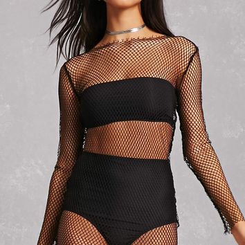 Sheer Mesh Mini Dress