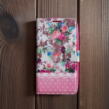 Flower Leather Flip Wallet Case for Galaxy Note 3