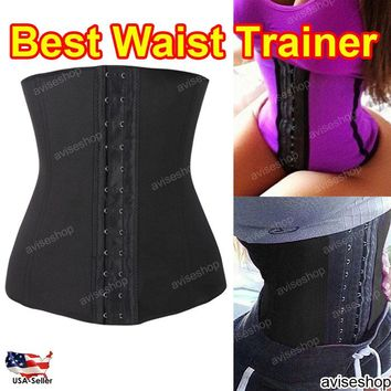 Color Underbust Waist Trainer Cincher Corset Girdle Workout Shaper Top Tummy control Belt