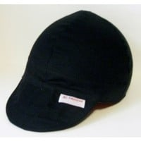 Solid Black Welding Cap or Biker Cap