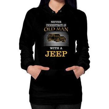 Old man with jeep Hoodie (on woman)