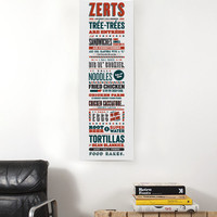 "Parks and Recreation Tom Haverford Apps and Zerts 8"" x 24"" Poster"