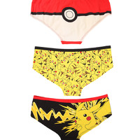 Pokemon Pikachu Poke Ball Panty 3 Pack