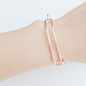 simple rectangle bracelet, bangle, cuff,cuff bracelet,simple bracelet,