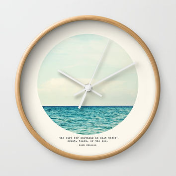 Salt Water Cure Wall Clock by tinacrespo