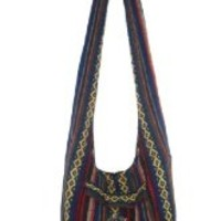 Rare Asian Hippie Hobo Cotton Sling Cross-body Handmade Colorful Thai Pattern Bag Shoulder Purse