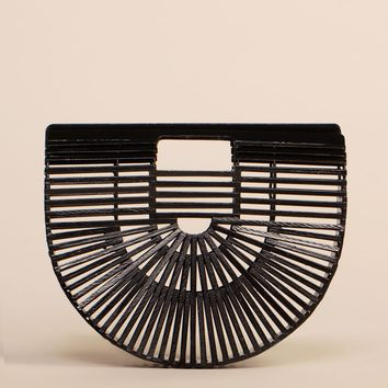 Lagos Lagoon Bamboo Bag - Black