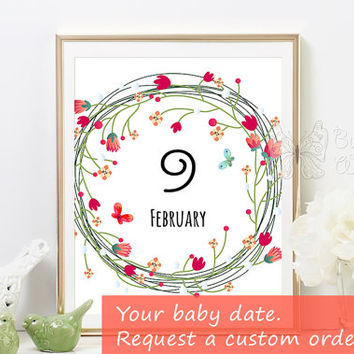 Baby personalized printable frame art wall decor for the baby nursery room great for baby shower gifts or baby birthday decorations wall art