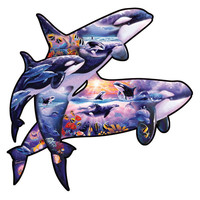 Orcas at Play | PuzzleWarehouse.com
