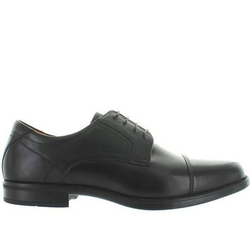 Florsheim Midtown Cap Ox - Black Leather Cap Toe Oxford